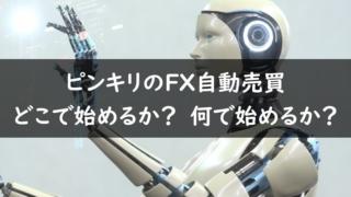 FX自動売買をどこで始めるか?何で始めるか?