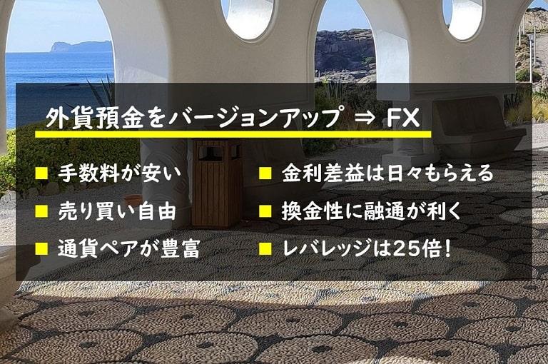 外貨預金をバージョンアップした金融商品がFX